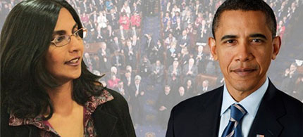 Kshama Sawant and Barack Obama. (image: Socialist Alternative)