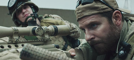 Bradley Cooper as Chris Kyle in 'American Sniper.' (photo: Warner Bros/Rolling Stone)