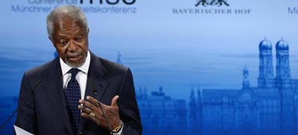 Former UN secretary-general Kofi Annan. (photo: AFP)