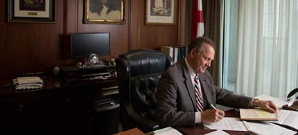 Chief Justice Roy Moore of Alabama, who ordered defiance of a same-sex marriage ruling, once fought to keep a Ten Commandments marker in a judicial building. (photo: Jeff Haller/NYT)