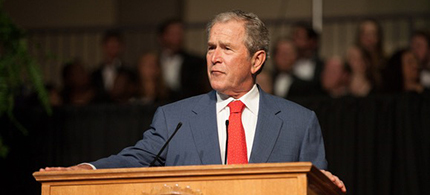 George W. Bush (photo: University of Mary Hardin-Baylor)
