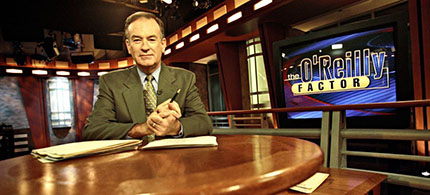 Bill O'Reilly on the set of