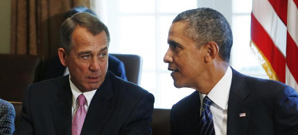 President Obama and Senator John Boehner. (photo: Reuters)