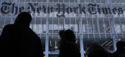 The New York Times building. (photo: Reuters)