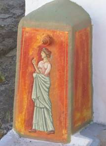 Santorini sculpture art. (photo: Steve Weissman)
