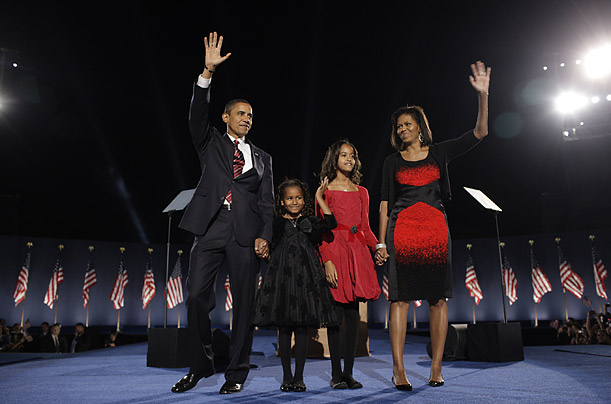 President Obama and his family. (photo: Brooks Kraft/Corbis for TIME)
