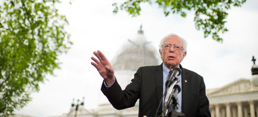 Senator Bernie Sanders. (photo: Tom Williams/Getty)