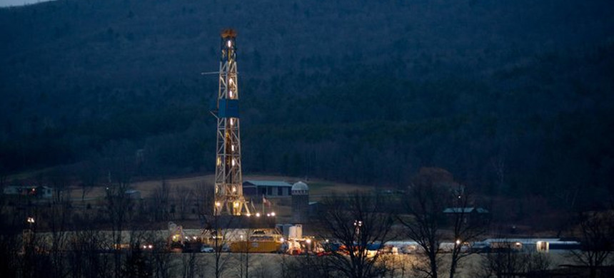 A natural gas well in Bradford County, Pa. (photo: Reuters)