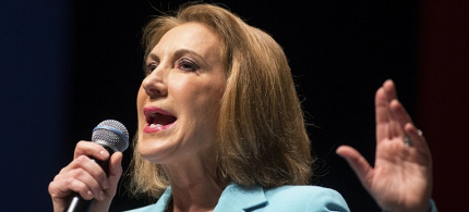 Carly Fiorina has been hailed a feminist despite her conservative positions. (photo: Chris Keane/Reuters)