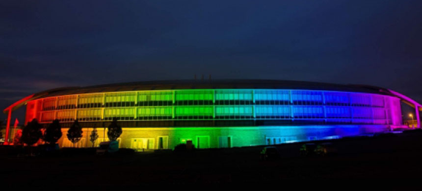 How can you not feel good about GCHQ when it drapes itself in the colors of LGBT equality? (photo: GCHQ/Public Affairs Office/Intercept)