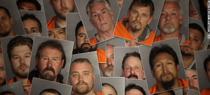 uspects in the recent biker brawl in Waco, Texas.  (photo: McLennan Country Sheriff's)
