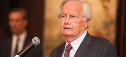 Bill Moyers speaking at New York Public Library on May 26, 2015. (photo: Katherine Phipps)