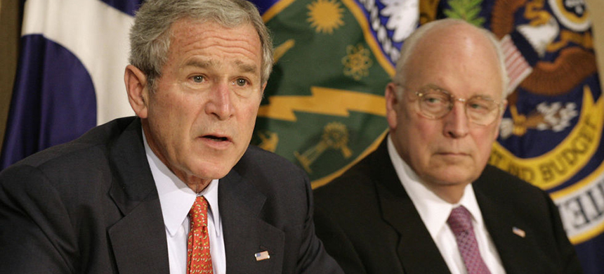 George Bush and Dick Cheney. (photo: Getty Images)