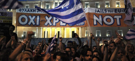 Greek protesters. (photo: Reuters)