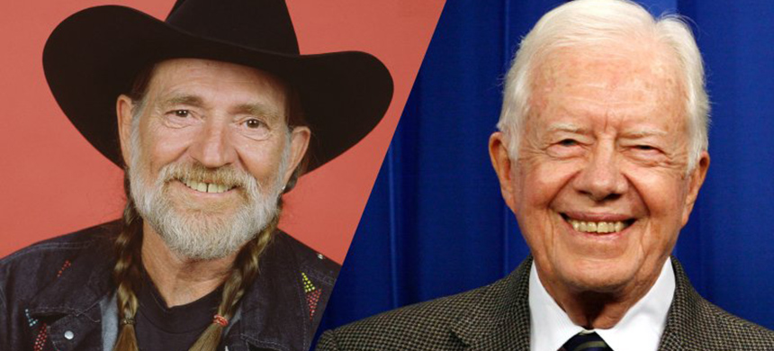Willie Nelson and Jimmy Carter (illustration: Sarah Rogers/The Daily Beast)