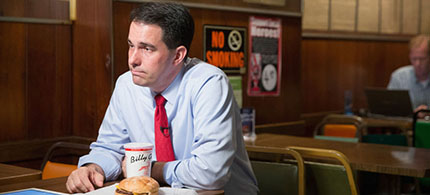 Scott Walker, the governor of Wisconsin. (photo: Scott Olson/Getty Images)