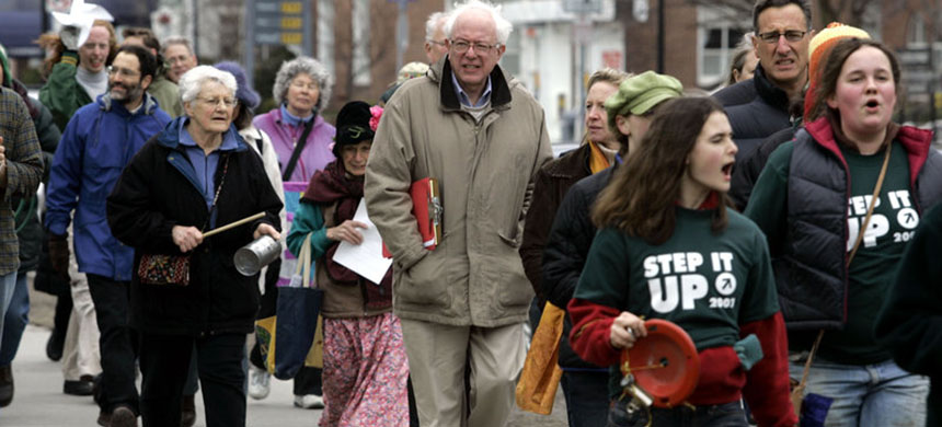 In 2007, Bernie Sanders took part in a Vermont walk for