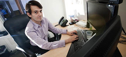 Martin Shkreli is the founder and chief executive of Turing Pharmaceuticals, which raised the price of the drug Daraprim to $750 a tablet from $13.50. (photo: Paul Taggart/Bloomberg/Getty Images)