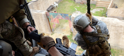 US Army Special Forces are seen doing training exercises at the John F. Kennedy Special Warfare Center and School in Fort Bragg, North Carolina, not unlike the kind of exercises done at military bases the world over. (photo: USAOC News Service/Flickr/Creative Commons)