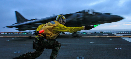 US fighter jet takes off. (photo: Getty)