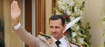 Syria's president, Bashar al-Assad, in Damascus in 2010 (photo: Reuters)