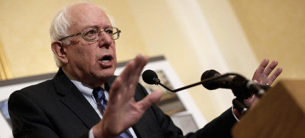 Sen. Bernie Sanders. (photo: Reuters)