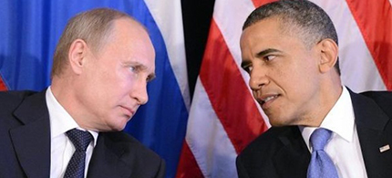 Russian president Vladimir Putin and U.S. president Barack Obama. (photo: AFP)