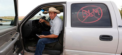 Cliven Bundy's son, Ammon - pictured here, in 2014 - appears to be leading the takeover of the Malheur Wildlife Refuge in Oregon. (photo: George Frey/Getty Images)