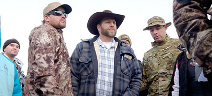 Ammon Bundy is leading the militia standoff in Burns, Oregon. (photo: Rob Kerr/AFP/Getty Images)
