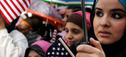 American Muslims at an anti-Islamophobia rally in New York. (photo: Jessica Rinaldi/Reuters)