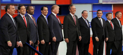 Republican presidential candidates. (photo: NBC)