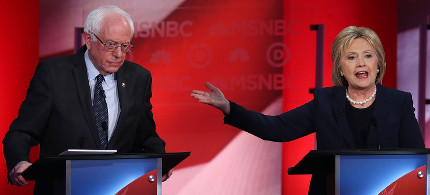 The Democratic debate in New Hampshire. (photo: AP)