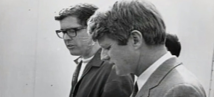 Robert Kennedy with Paul Schrade. (photo: unknown)