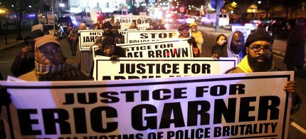 Protest against NYPD's killing of Eric Garner. (photo: AP)