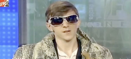 Republican video activist James O'Keefe on FoxNews, 01/26/10.  (image: FoxNews)