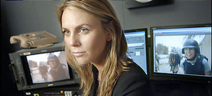 CBS correspondent Lara Logan, 07/08/08. (photo: Helayne Seidman/Washington Post)