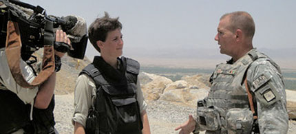 Rachel Maddow on assignment in Afghanistan, 07/05/10. (photo: Rachel Maddow Show/MSNBC)
