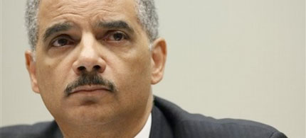 Attorney General Eric Holder testifies before the House Judiciary Committee, 05/13/10. (photo: AP)
