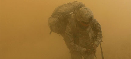A US soldier in Jeluwar, Afghanistan. (photo: Justin Sullivan/Getty Images)