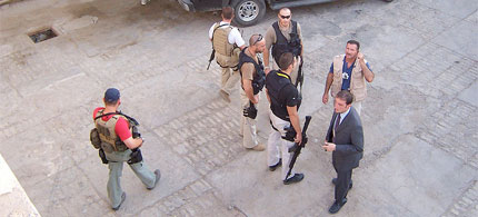 US private security contractors in Iraq, 06/15/09. (photo: Unspecified)