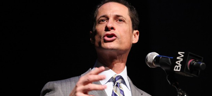 Congressman Anthony Weiner speaks at the 24th Annual Brooklyn Tribute to Dr. Martin Luther King Jr., 01/18/10. (photo: Getty Images)