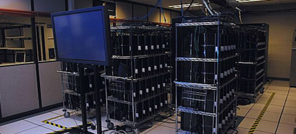 The US Air Force has purchased 2,200 PS3s to throw into a supercomputing cluster. The cell-powered PS3s are to be used for research in 'urban surveillance,' 12/05/09. (photo: Mark Barnell/Mayer/USAF)