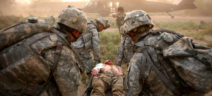 Casualties and the injured during the Iraq War, 12/30/11. (photo: US Navy Seals)