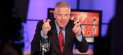 Glen Beck whipping up the Fox News crowd, 03/29/09. (image: Fox News)