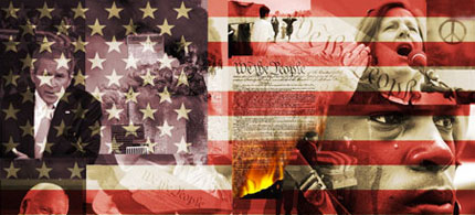 9/11 collage, 06/15/09. (art: uprisingradio.org)