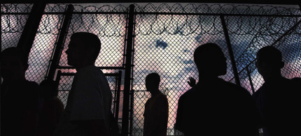 Prisoners inside prison yard. (photo: AP)