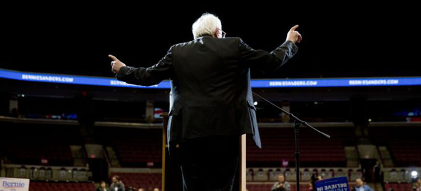 The 'New York Times' published a piece Monday originally headlined 'Bernie Sanders Scored Victories for Years Via Legislative Side Doors.' (photo: Victor J. Blue/The NY/Redux)