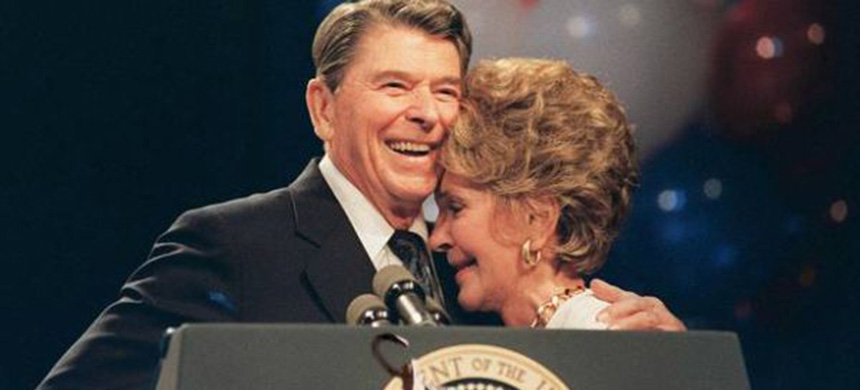 Ronald and Nancy Reagan. (photo: unknown)