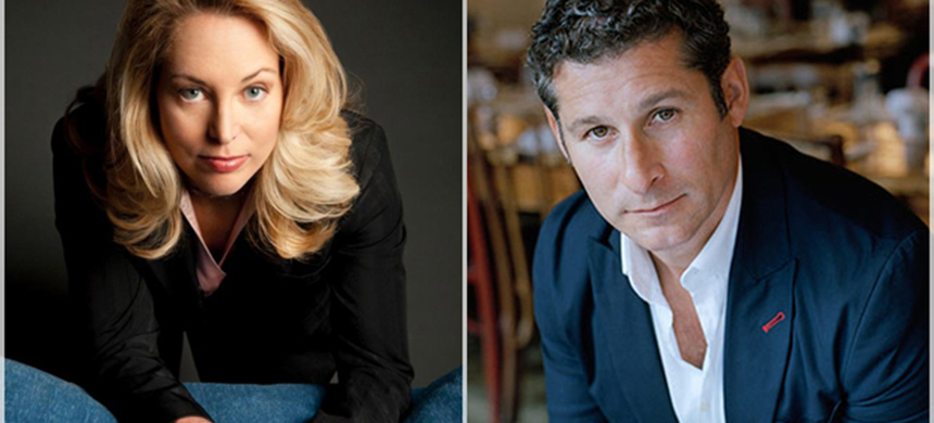 Valerie Plame and Chris Pavone. (photo: Salon)