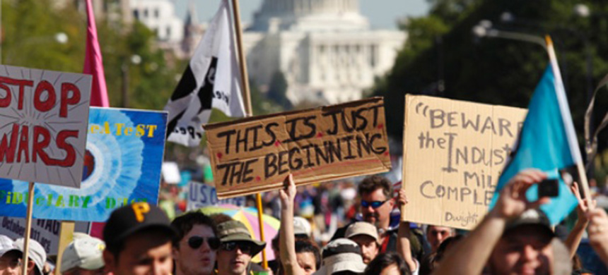 Protesters associated with the Occupy Wall Street movement march in Washington, DC, in October 2011. (photo: Reuters)